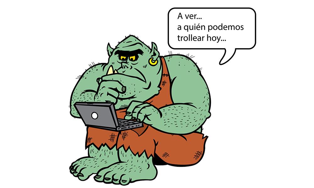 Troll en redes sociales